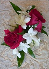 Red Roses & Stephanotis Wedding Corsage