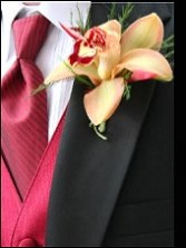 Cymbidium Orchid Wedding Boutonniere