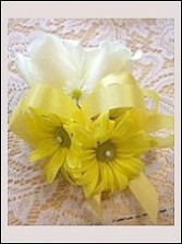White Rose & Yellow Daisy Wedding Corsage