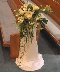 Wedding Ceremony Flowers Cascading Pew Marker