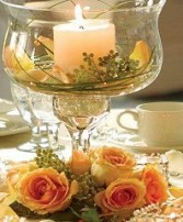 Rose Guest Table Centerpiece Wedding Reception Arrangements