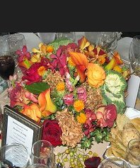 Colorful Fall Wedding Table Arrangement