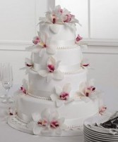 Wedding Reception Cake Cymidium Orchid Elegance