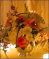 Romantic Table Arrangement Wedding Reception Flowers