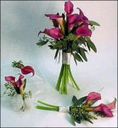 Calla lily Bouquet  Boutonniere