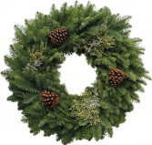 W4 26 inch mixed Evergreen wreath Libbey