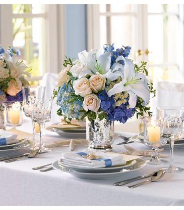 Wedding Centerpiece Touch of Blue