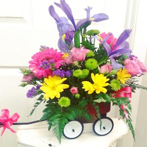 Wagon of Wonderful  Everyday Arrangement  in Mount Pleasant, TX | DESIGNS BY LISA