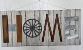 Wagon Wheel Home Sign