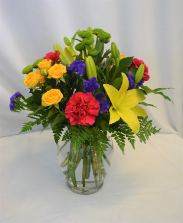 WAKE UP BEAUTIFUL FRESH FLOWERS VASED - see description