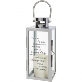 Walk beside us everyday Chrome Lantern