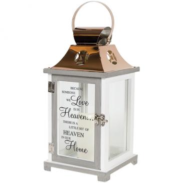 """Heaven"" Wood/Copper LED Lantern"