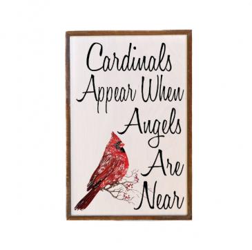 Wall Decor/Cardinals Appear Sympathy Gift