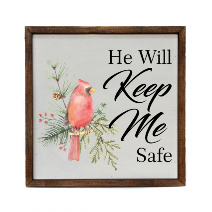 Wall Decor/He Will Keep Me Safe Sympathy Gift