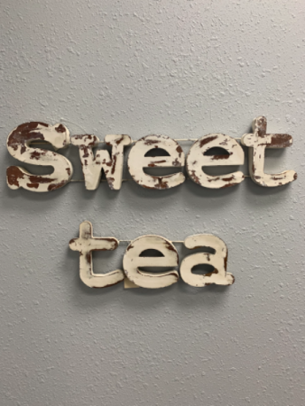 Wall Sign Words Sweet Tea