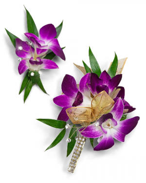Wanderlust Corsage and Boutonniere Set Corsage/Boutonniere in Nevada, IA | Flower Bed