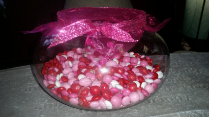 Want to win $100 Valentine Bouquet??? Guess how many M&M's, Visit us on Facebook to enter your guess. Winner to be announced Tuesday February 12th! Good luck!