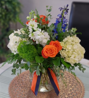 War Eagle Mix Vased Arrangement in Auburn, AL | AUBURN FLOWERS & GIFTS