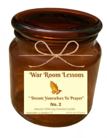 War Room Lesson - Devote Yourselves To Prayer Handcrafted Natural 100% Sow Candle
