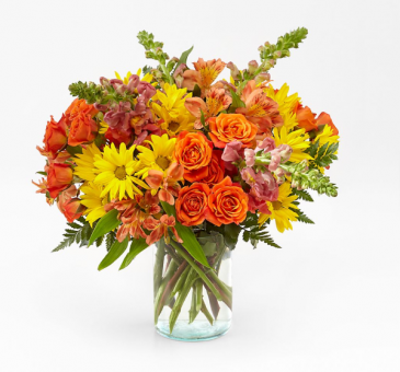 WARM AMBER BOUQUET HARVEST COLOR FLOWERS