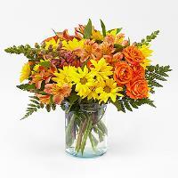 Warm Amber clear vase