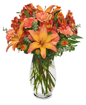 WARM CINNAMON SPICE Floral Arrangement in Bethel, CT | BETHEL FLOWER MARKET OF STONY HILL