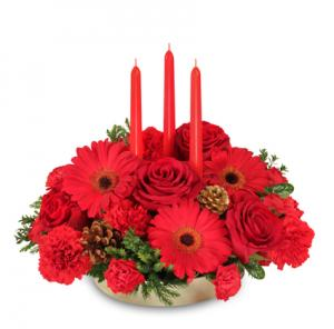 Peace ~ Joy ~ Noel Holiday Centerpiece in North Cape May, NJ | HEART TO HEART FLOWER SHOP