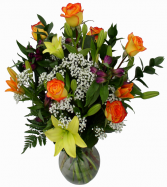 Warm Elegance  Vase Arrangement