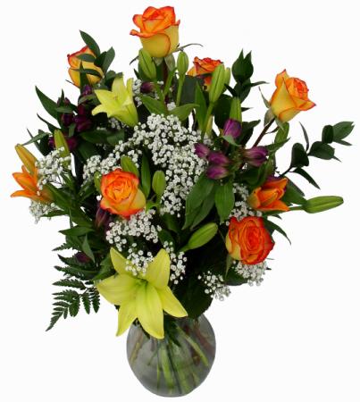 Warm Elegance  Vase Arrangement