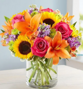 Warm Embrace Mixed Floral Arrangement