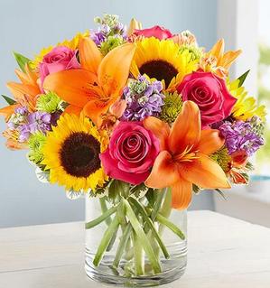 Warm Embrace Mixed Floral Arrangement