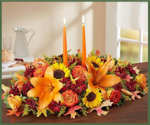 Warm Fall Centerpiece Grande  in Arlington, TX | Erinn's Creations Florist