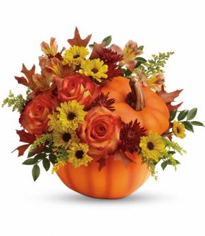 Warm Fall Wishes All-Around Floral Arrangement in Winnipeg, MB   KINGS FLORIST LTD