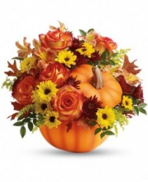 Warm Fall Wishes Bouquet Fall Arrangement