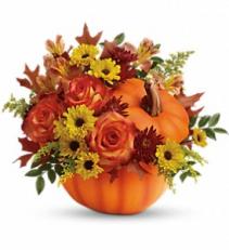 Warm Fall Wishes Bouquet               T13H110A  fresh keepsake arrangement