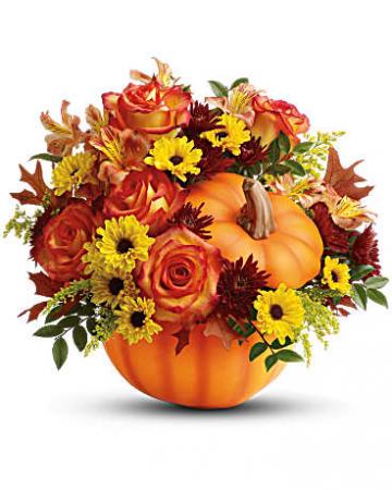 Warm Fall Wishes Pumpkin Fall Bouquet