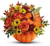 Warm Fall Wishes Pumpkin Hand-glazed ceramic pot