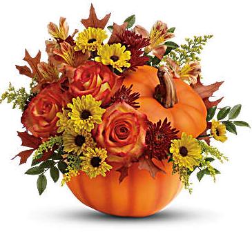 Warm Fall Wishes Pumpkin Hand-glazed ceramic pot
