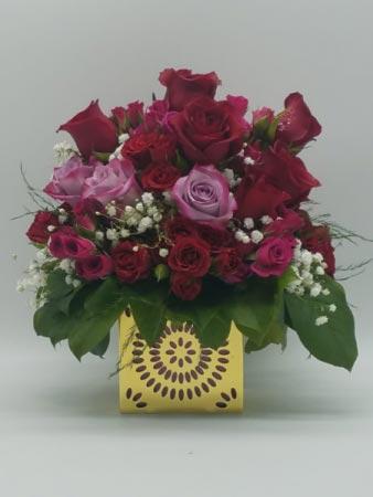 Warm Heart Flower Arrangement