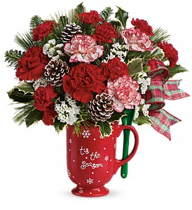 Warm Holiday Wishes  All-Around Floral Arrangement