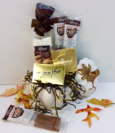 Warm My Heart DeBrand Chocolate Sampler  Premium Gourmet Chocolates In Pumpkin