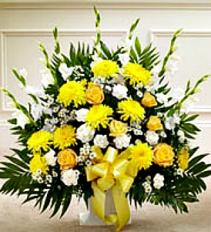Warm Peaceful Basket Yellow Fresh Sympathy