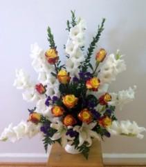 Warm Remenbrance Vase arrangement