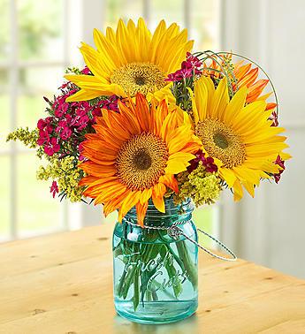 Warm Sunset Bouquet Arrangement