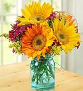 Warm Sunset Bouquet  Mixed flowers