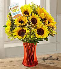 Warm Sunset Vase Arrangement in Sunrise, FL | FLORIST24HRS.COM