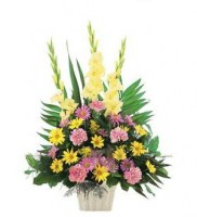 Warm Thoughts Arrangement Funeral Basket