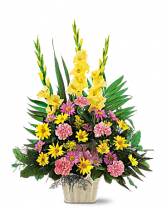 Warm Thoughts Urn Funeral Flowers