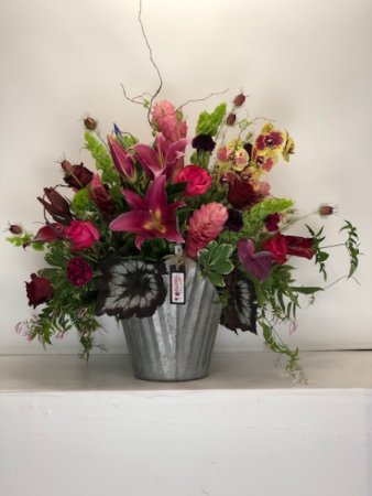 Warm Tropical Mix  Flower Arrangement
