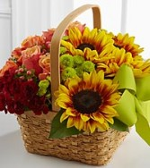 Warm Welcome Flower Basket